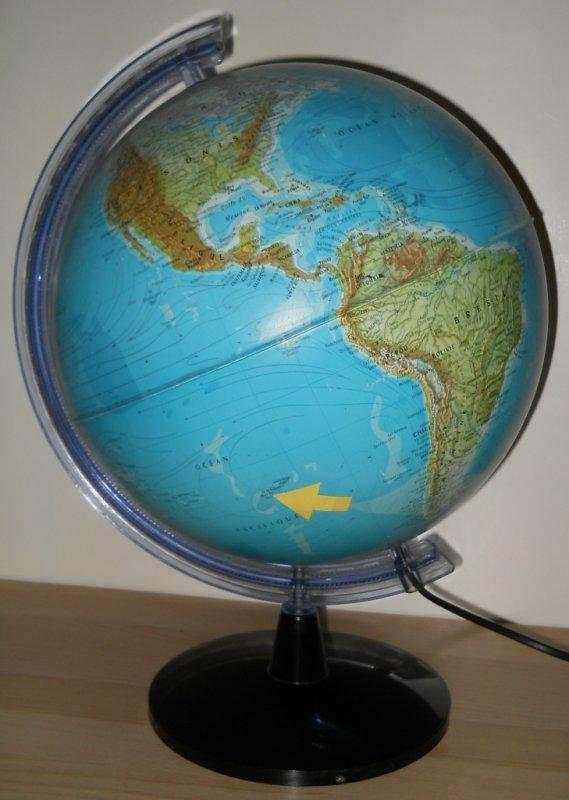 Position de l'IDP sur le globe terrestre