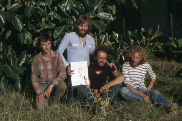 Les 4 spéléologues de la MEIPAIPA 1979