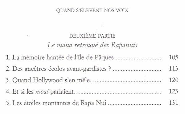 """""""Quand s'élèvent nos voix"""" de Sylvie Brieu (3/3) - 04/2011 - Sommaire de la partie consacrée à l'IDP"""