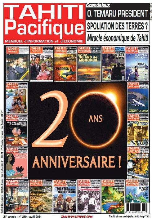 "92e article de FD: ""les 20 ans de Tahiti Pacifique"" (1/2)"