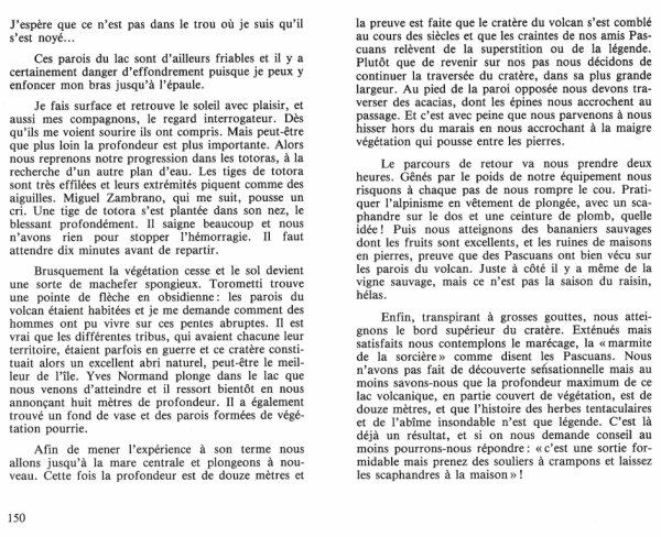 """""""Le livre d'or de la plongée"""" de Jacques Dumas (11/1983) aux éditions Glénat (2/2)"""
