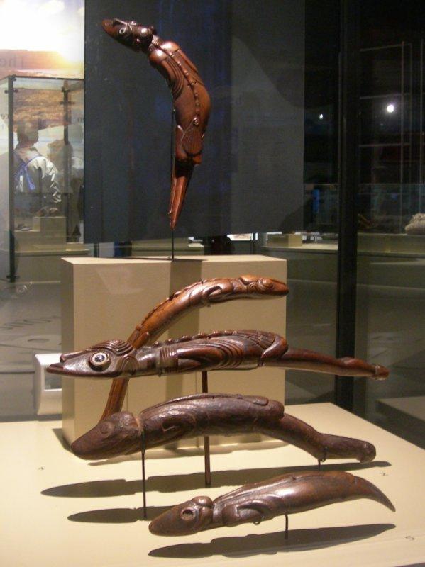 Musée de Pointe-à-Callière de Montréal - vitrine aux moko - 17/09/2010