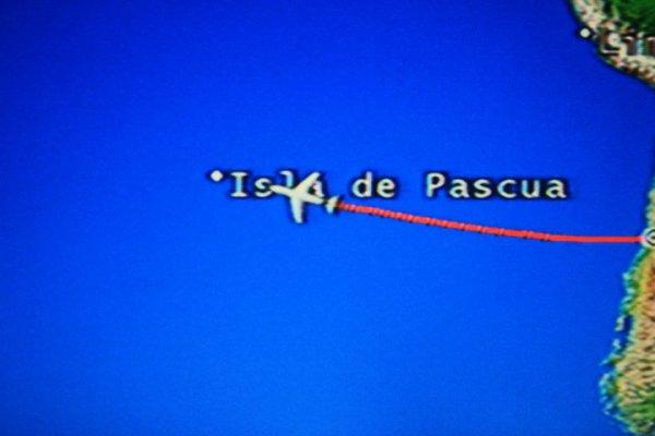 """IDP - écran dans l'avion vers """"Isla de Pascua"""" - 04/2011"""
