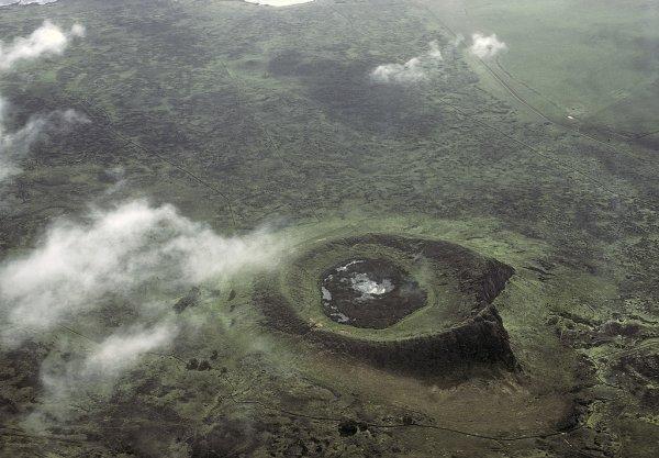 Rano Raraku vue aérienne