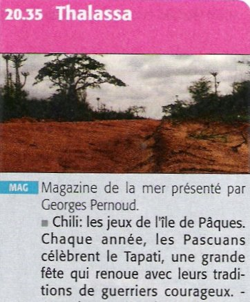 """""""Thalassa"""" à l'IDP pendant le tapati 2011 - france 3 - 03/06/2011"""