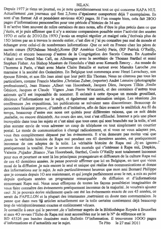 "98e article de FD: ""Bilan"""