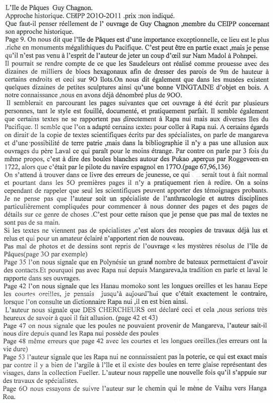 critique du livre de Guy Chagnon par Te Pito (1/5)