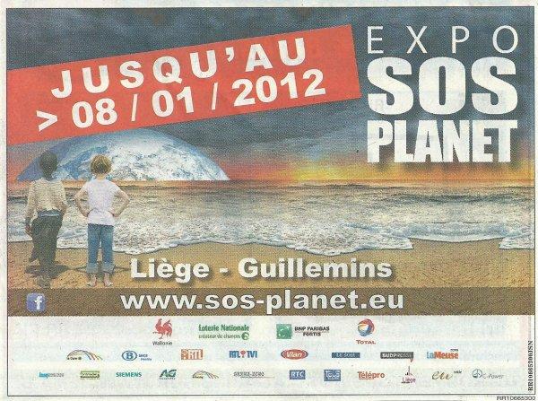 """Exposition """"SOS Planet"""" de Liège (Belgique) prolongée > 08/01/2012"""