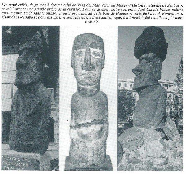 "moai extérieurs à Rapa Nui (Santiago - Chili) - photo n° 1B (issue du ""Kadath"" n° 64)"