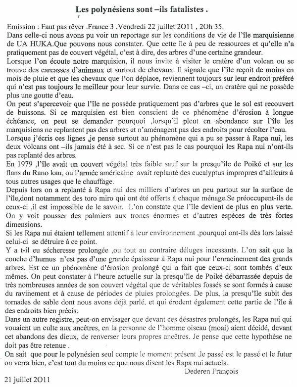 """107e article de FD: """"Les Polynésiens sont-ils fatalistes ?"""""""