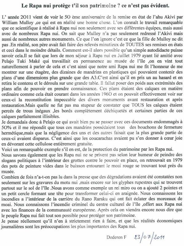 """108e article de FD: """"Le Rapa Nui protège-t-il son patrimoine ? Ce n'est pas évident"""""""