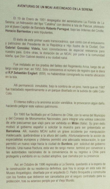 """109e article de FD: """"Mise au point sur le moai du Musée de La Serena (Chili) - (1/2)"""