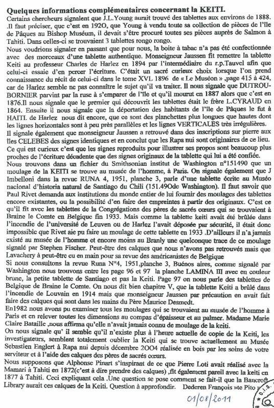 """111e article de FD: """"Quelques informations complémentaires concernant la tablette Keiti"""""""