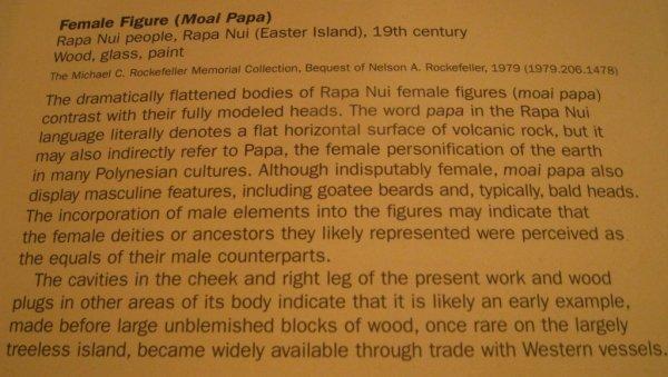 Moai pa'a pa'a - panneau (13/08/2011)