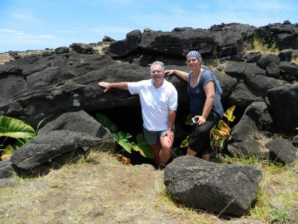 Randonnée de la côte Nord entre l'ahu Te Peu & Anakena - Ana Heu - (08/12/2013) - 13
