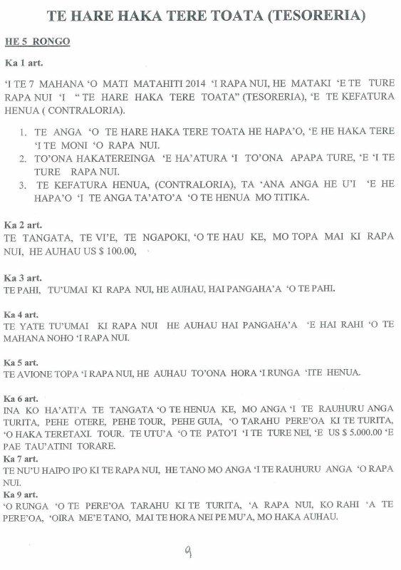 Réunion exceptionnelle du Parlement Rapa Nui (11/12/2013) - 3