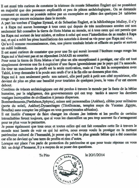 """213e article de FD: """"Rapa Nui: 1979-2014"""""""