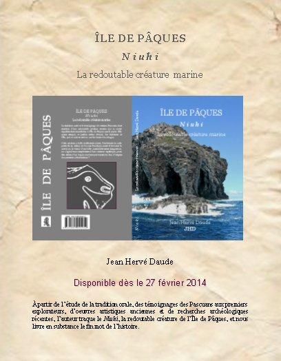 """Nouveau livre de Jean Hervé Daude: """"IDP - Niuhi - La redoutable créature marine"""""""