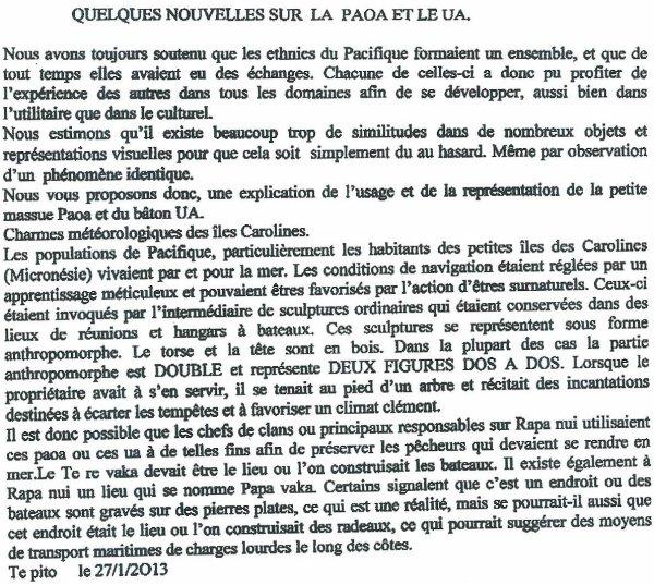 """214e article de FD: """"Quelques nouvelles sur la Paoa et le Ua"""""""