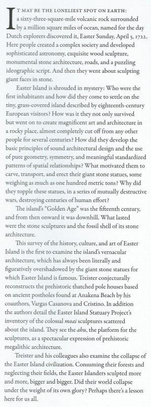 "Livre: ""Easter Island's Silent Sentinels"" (30/12/2013) de K. Treister, P. Vargas Casanova & C. Cristino"