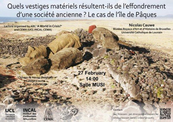 Conférence de Nicolas Cauwe le jeudi 27/02/2014 à l'UCL (Louvain-La-Neuve)