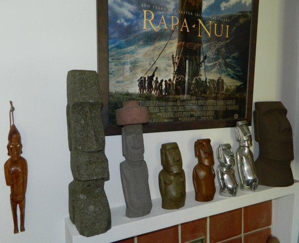 Moai en pierre verte de rivière de Bali (Indonésie) - 50 cm de hauteur & 10,9 kg de poids (17/04/2014)
