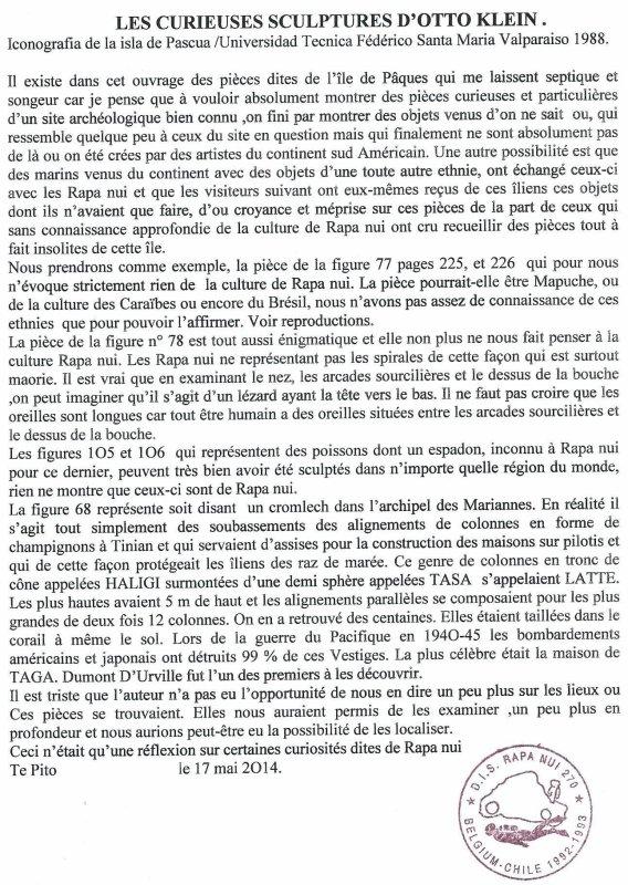 """222e article de FD: """"Les curieuses sculptures d'Otto Klein"""""""