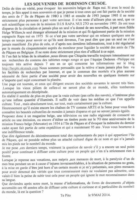 "221e article de FD: ""Les souvenirs de Robinson Crusoé"""