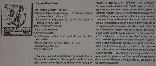 """Vu dans le """"Tribal Art"""" n° 72 (été 2014) à la page 158, cette publicité pour le livre de Te Pito"""