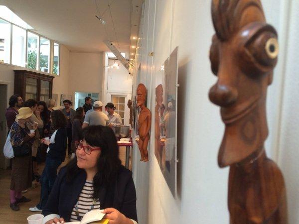 """Vernissage de l'exposition """"Le visage vivant de l'île de Pâques"""" à la Maison du Chili à Paris le 03/06/2014"""