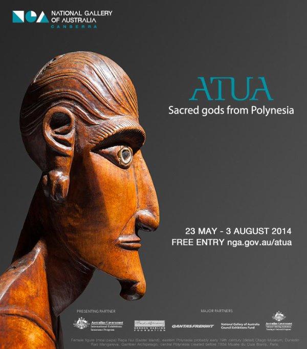 "Exposition ""Sacred gods from Polynesia"" du 23/05 au 03/08/2014 à Canberra (Australie)"