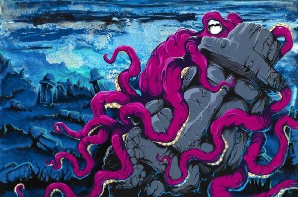 octopus sur moai