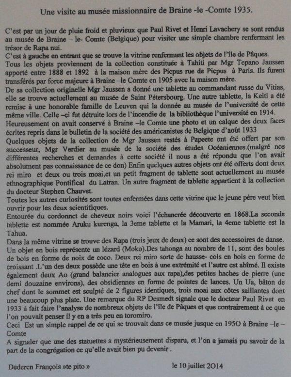 """229e article de FD: """"Une visite au musée missionnaire de Braine-Le-Comte en 1935"""""""
