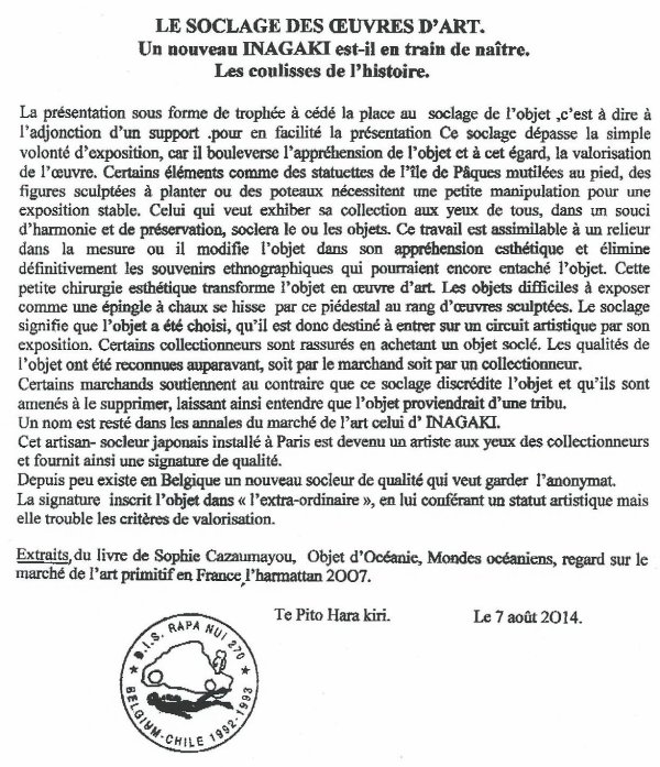 """232e article de FD: """"Le soclage des oeuvres d'art"""""""