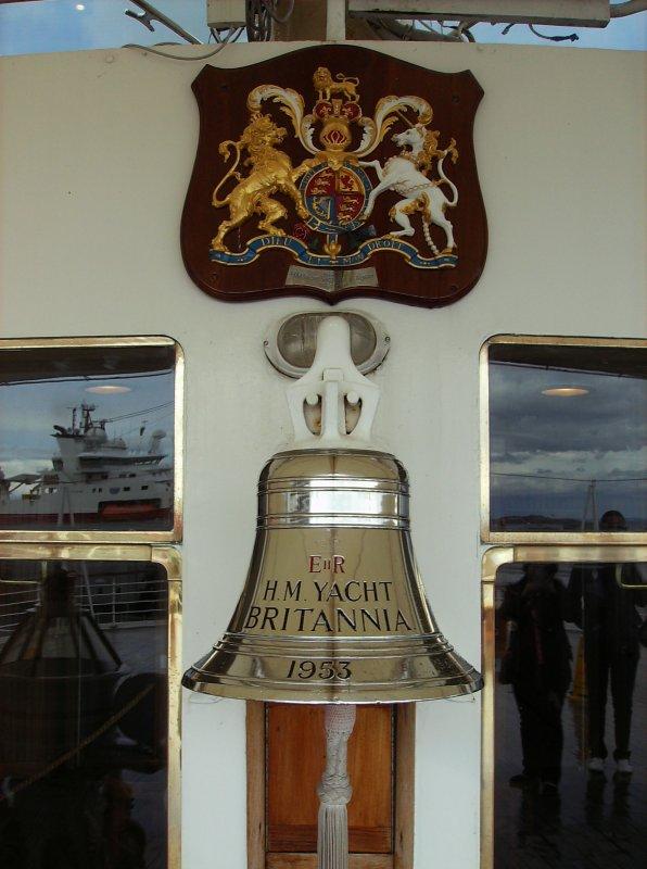 """Un parfum de l'IDP sur le """"Britannia"""" à Edimbourg (Ecosse) - 23/08/2014"""