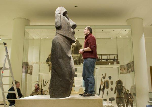 Une copie du moai du British Museum en vente sur ebay (13/09/2014) - 2