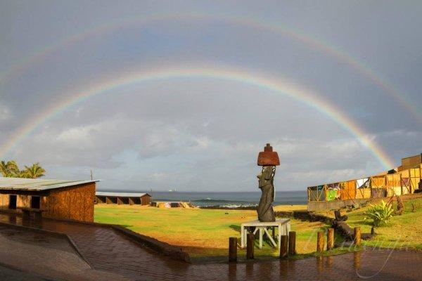 Arcs-en-ciel à Rapa Nui - 1