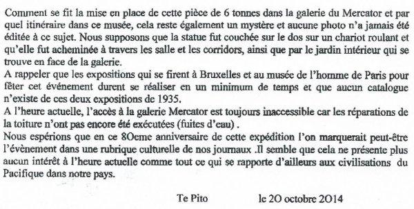 """235e article de FD: """"Le Mercator à l'île de Pâques"""""""