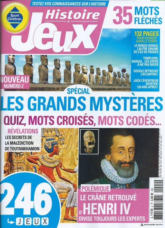 """""""Histoire & Jeux"""" (octobre 2014)"""