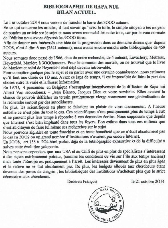 "236e article de FD: ""Bibliographie de Rapa Nui, bilan actuel"""