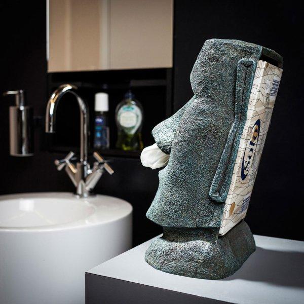 Moai, distributeur de mouchoirs en papier ... :-)