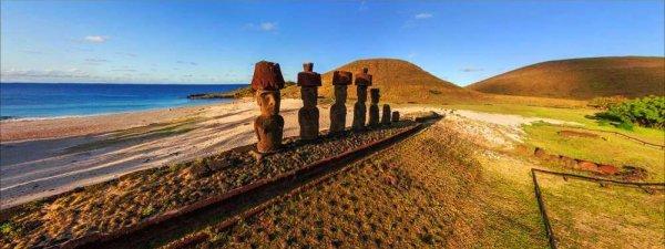 Vues à 360° des différents sites de Rapa Nui