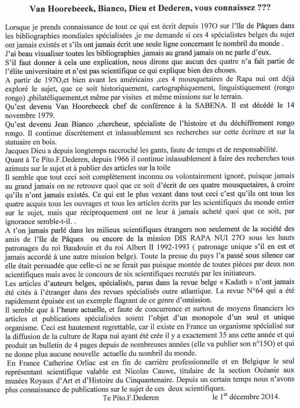 "239e article de FD: ""Van Hoorebeek, Bianco, Dieu & Dederen, vous connaissez ???"""