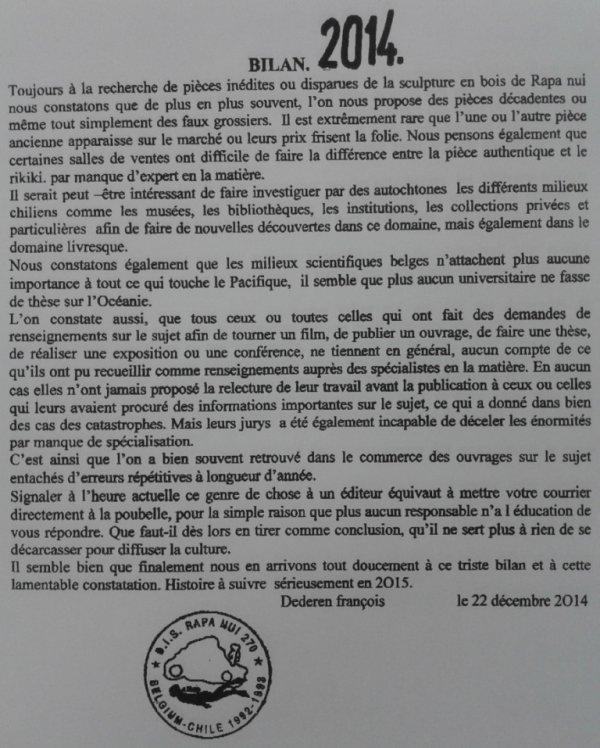 "241e article de FD: ""Bilan 2014"""