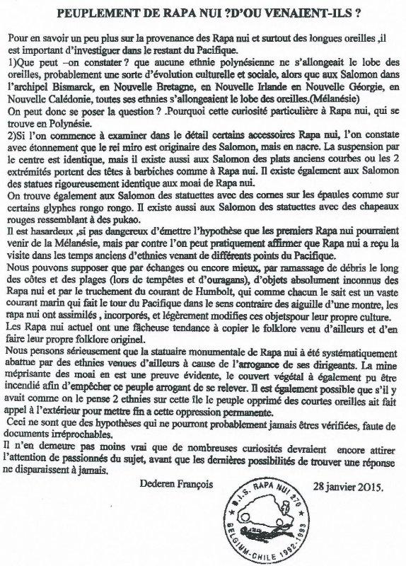 """245e article de FD: """"Peuplement de Rapa Nui - D'où venaient-ils ?"""""""