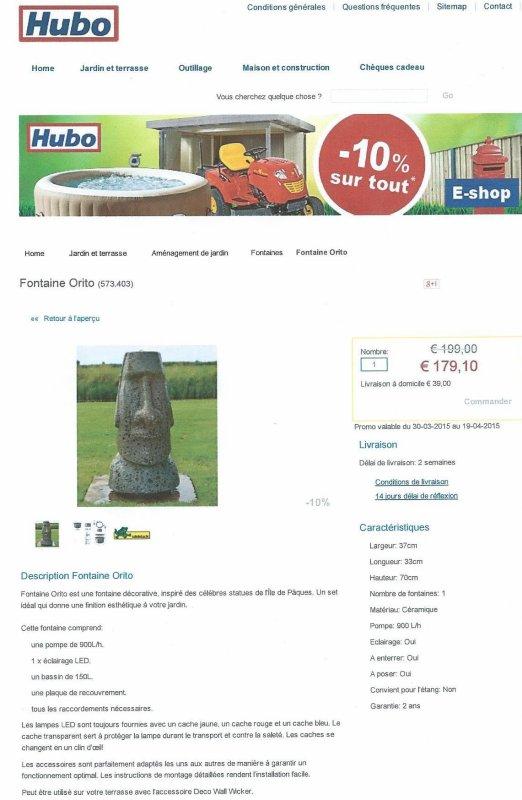 Vu dans le catalogue jardin 2015 de Hubo ...