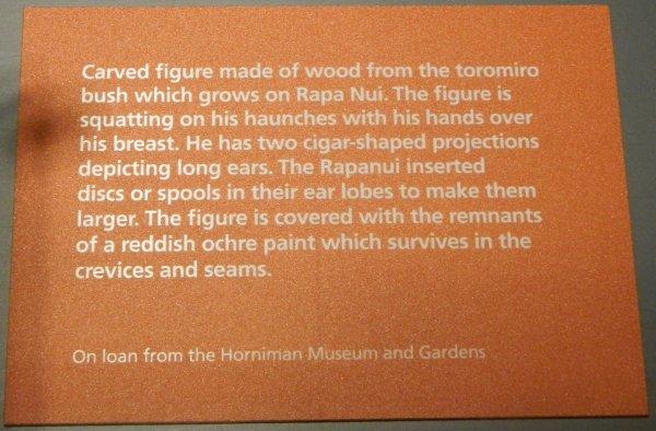 """Visites de l'exposition """"Making Monuments on Rapa Nui"""" à Manchester (13 & 14/05/2015) - 20"""