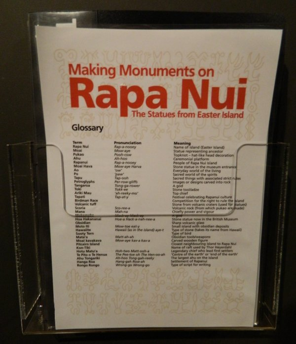 "Visites de l'exposition ""Making Monuments on Rapa Nui"" à Manchester (13 & 14/05/2015) - 23"