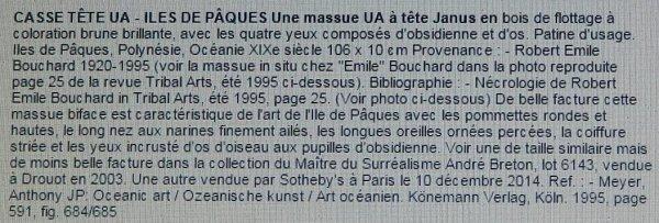 Vente d'un baton UA chez Drouot (Paris) le 03/06/2015