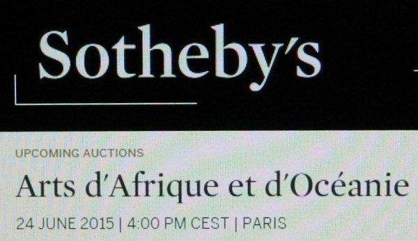 Vente d'un moai tangata chez Sotheby's (Paris) le 24/06/2015